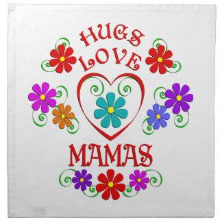 Umarmungs-Liebe-Mütter Serviette