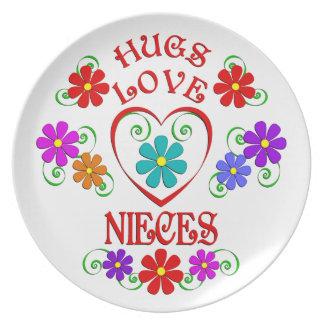 Umarmungs-Liebe-Nichten Teller