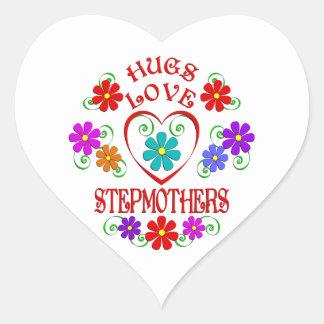 Umarmungs-Liebe-Stiefmütter Herz-Aufkleber