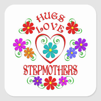 Umarmungs-Liebe-Stiefmütter Quadratischer Aufkleber