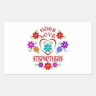 Umarmungs-Liebe-Stiefmütter Rechteckiger Aufkleber