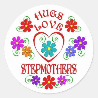 Umarmungs-Liebe-Stiefmütter Runder Aufkleber