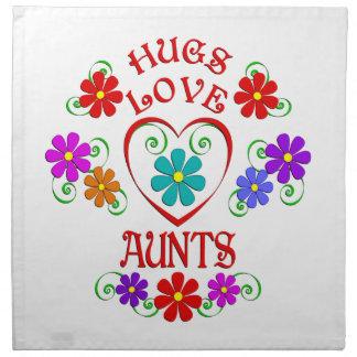 Umarmungs-Liebe-Tanten Stoffserviette