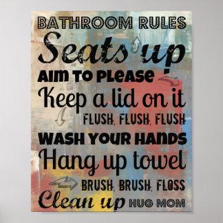 Umarmungs-Mamma 8x10 des Badezimmer-Regel-Plakat-| Poster