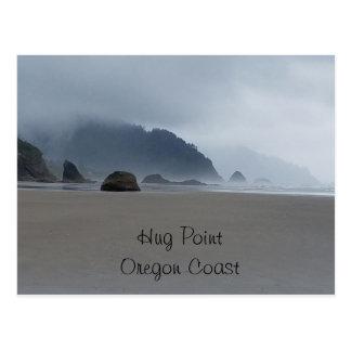 Umarmungs-Punkt-Oregon-Küsten-Strand-Postkarte Postkarte
