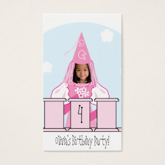 Umbau Prinzessin-Gastgeschenk Visitenkarte