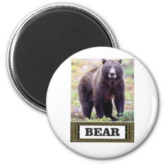 Umbaukunst des schwarzen Bären Runder Magnet 5,1 Cm