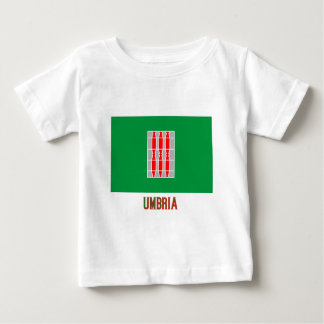 Umbrien-Flagge mit Namen Baby T-shirt