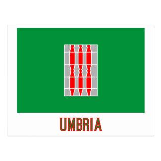 Umbrien-Flagge mit Namen Postkarte