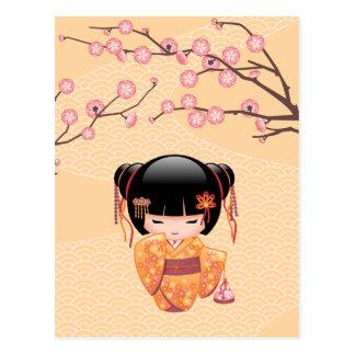 Ume Kokeshi Puppe - japanisches Postkarte