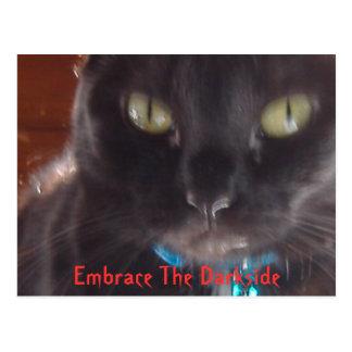 Umfassen Sie das Darkside Postkarte