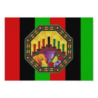 Umfassen Sie das Kultur-Kwanzaa-Feiertags-Party Karte