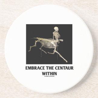Umfassen Sie den Zentaur innerhalb (Skelett) Getränkeuntersetzer