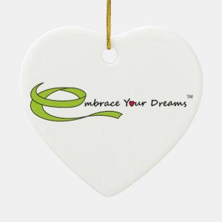 Umfassen Sie Ihre Träume Keramik Herz-Ornament