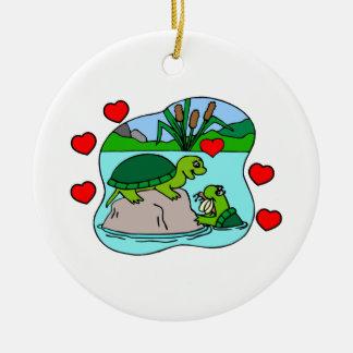 Umgeben durch Schildkröte-Liebe Keramik Ornament