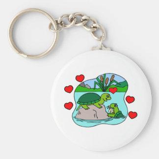 Umgeben durch Schildkröte-Liebe Schlüsselanhänger