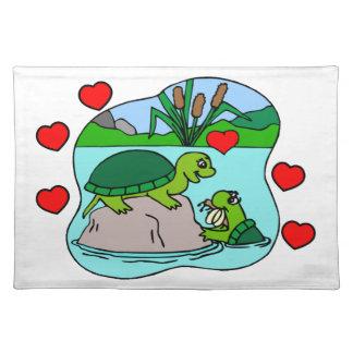 Umgeben durch Schildkröte-Liebe Tischset