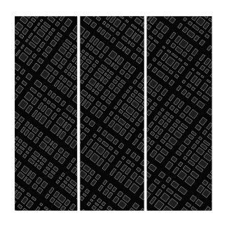 Umgebende 32 - Designer Schwarzweiss Triptychon