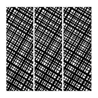 Umgebende 35 - Designerschwarzweiss-Diagonalen Triptychon