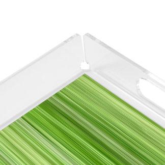 Umgebende 3 grün, ursprünglicher moderner Entwurf Acryl Tablett