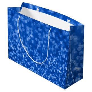 Umgebende 4, Bokeh blaue Designer Große Geschenktüte