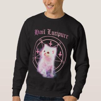Umgedrehte Kreuze u. Pentagram-Kätzchen-Sweatshirt Sweatshirt