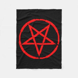Umgekehrte Pentagram-Fleece-Decke Fleecedecke