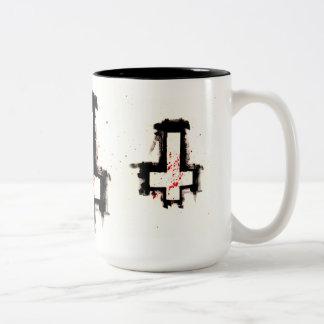 Umgekehrte Querkaffee-Tasse Zweifarbige Tasse
