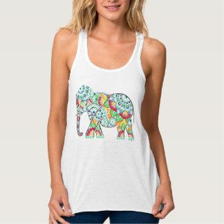Umgekehrter Elefant gefärbt Tank Top