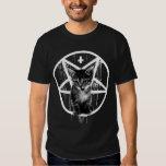Umgekehrter Kreuz-u. Pentagram-Katzen-T - Shirt