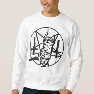 Umgekehrtes Kreuz-u. Pentagram-Kätzchen-Sweatshirt Sweatshirt