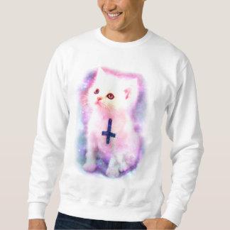 Umgekehrtes Querkätzchen-Sweatshirt Sweatshirt