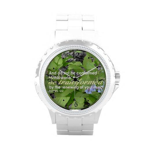 Umgewandelte Römer-12:2 christliche Bibel mit Blum Uhren