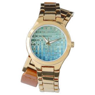 Umgriffsuhr der städtischen Oasen-Frauen gold Armbanduhr