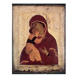 Umilenie Jungfrau von Wladimir, Moskau-Schule Postkarte