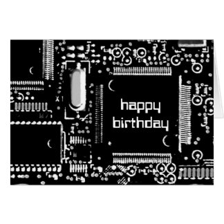 """Umkreisen Sie B&W 2"""" alles Gute zum Geburtstag"""" Karte"""