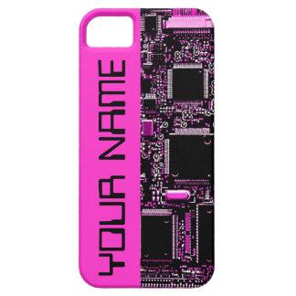 """Umkreisen Sie Rosa """"Namens"""" iPhone 5 Fallrosa Schutzhülle Fürs iPhone 5"""