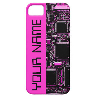 "Umkreisen Sie Rosa ""Namens"" iPhone 5 Fallrosa iPhone 5 Cover"