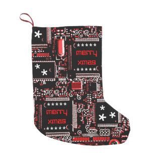"""Umkreisen Sie Rot 2"""" fröhliches doppelseitiges Kleiner Weihnachtsstrumpf"""