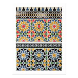 Ummauern Sie Fliesen vom Mihrab der Moschee von Postkarte