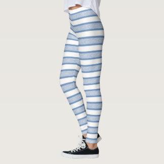 Umrissene Streifen blau/Grau Leggings