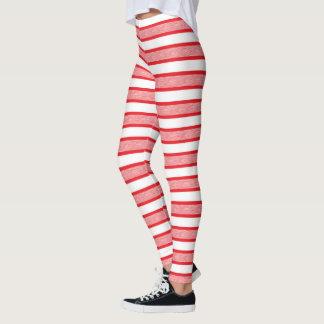 Umrissene Streifen rot Leggings