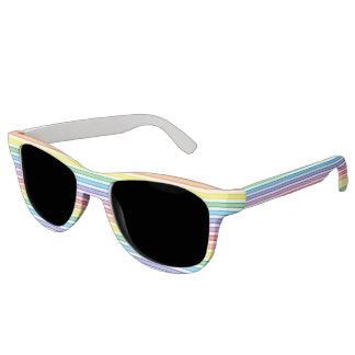 Umrissener Streifen-Regenbogen Brille