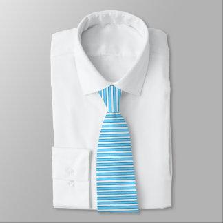 Umrissener Streifen-Türkis Krawatte