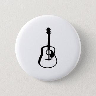 umrissenes Gitarrengraphikschwarzes Runder Button 5,7 Cm