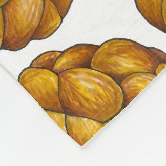 Umsponnenes Challah-Brot-Laib-jüdische Fleecedecke
