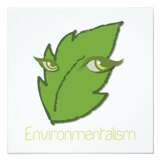 Umweltbewegungs-Einladung Quadratische 13,3 Cm Einladungskarte