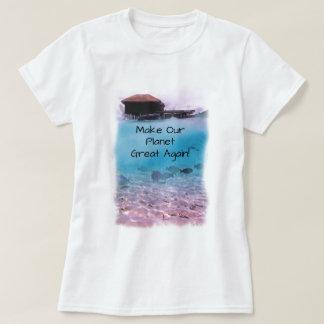 Umweltschutz-Klimawandel-Bewusstsein T-Shirt