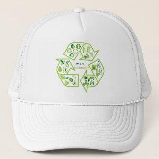 Umweltsmäßig recyceln umweltfreundliches Grün Truckerkappe