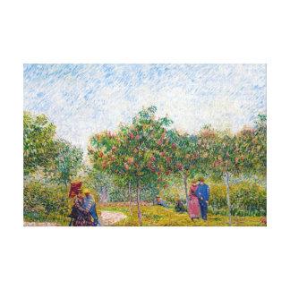 Umwerbende Paare im Voyer d'Argenson parken Gogh Gespannter Galeriedruck
